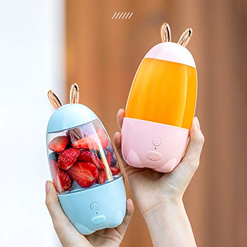 UYT USB Charging Mini Electric Juicer,Portable Cute Rabbit Ears Electric Juicer Cup Household USB Charging Mini Smoothie Fruits Blender Outgoing Juicer Extractor Food Mixer Small Home Appliances