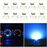 WLJH 10x Ice Blue T3 Neo Wedge 3030 SMD 8mm Base Led Car Instrument Cluster Led Bulb Dashboard Gauge Bulb HVAC AC Heater Climate Controls Lamps Radio Switch Indication Interior Light Replacement
