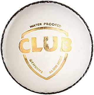 SG Club Leather Cricket Ball, Pack Of 2 White