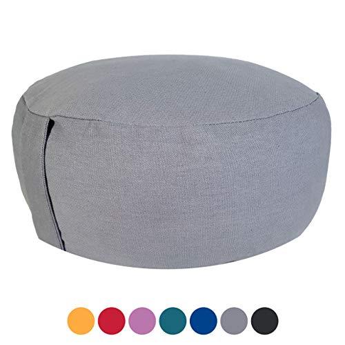 Soma Yogakissen Meditationskissen Sitzkissen Lotus rund 31x16x31 cm Bezug waschbar (BxHxL) 31 x 16 x 31 cm grau - coolgray