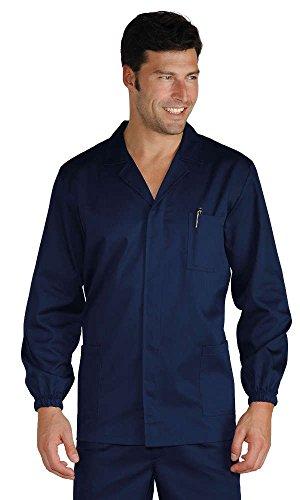 Isacco pantalon homme 2 pinces bleu, bleu, 52, 60% laine, 40% polyester, 195 g/m²