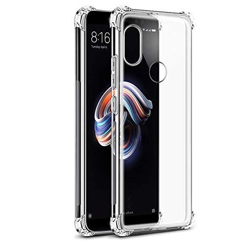- Funda Anti-Shock Gel Transparente para XIAOMI REDMI S2 - XIAOMI REDMI Y2, Ultra Fina 0,33mm, Esquinas Reforzadas, Silicona TPU de Alta Resistencia y Flexibilidad