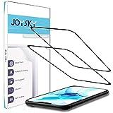 【2020年改進版・2枚セット】JOYSKY iPhone 12 / iPhone 12 pro ガラスフィルム 全面保護フィルム 強化ガラス 保護フィルム【ケースに干渉しない】【顔認識ができる】2.5Dラウンドエッジ加工 完全保護 高硬度9H 気泡ゼロ iPhone 12 / iPhone 12 pro 6.1 用 フィルム
