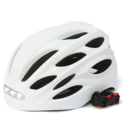 Casco de bicicleta Casco de ciclismo para hombre y mujer con luces...