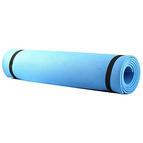 Domybest Yogamatte, rutschfest, EVA, Fitnessmatte, Bio, Sportmatte, Bodenmatte, Pilates, Sport, 173 x 61 x 0,4 cm, blau