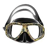 Colcolo Gafas de Buceo en Vidrio Templado para Pesca Submarina