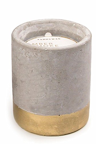 Paddywax Candles Urban Collection Soy Wax Blend Candle in Concrete Jar, Small- 3.5 Ounce, Amber + Smoke