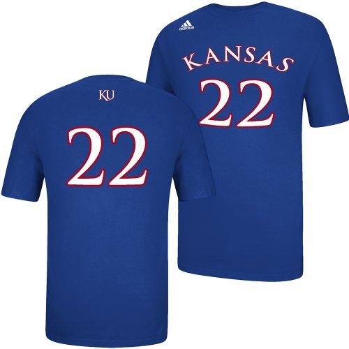 adidas Kansas Jayhawks - Camiseta de Manga Corta para Hombre, Color Azul, S, Azul
