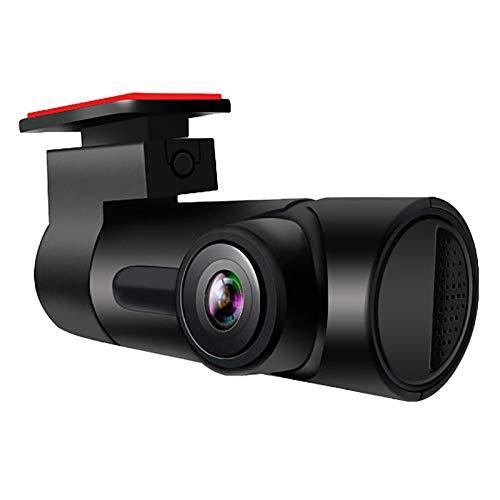 Domilay Dash Camera Coche DVR 1080P WiFi 170 Grados Gran Angular VisióN Nocturna Grabadora de ConduccióN de AutomóViles Grabadora de VíDeo