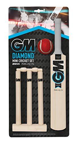 Gunn & Moore Kinder Diamond Mini Cricket-Set, Schwarz/Blau/Weiß, Einheitsgröße