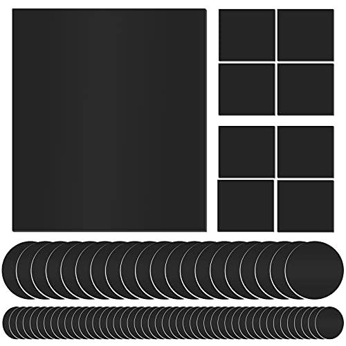 Rutschfeste Möbel-Pads – 77 Stück Anti-Rutsch-Möbel-Pads, selbstklebend, quadratisch, rund, Gummi-Pads, Anti-Kratz-Holzbodenschutz für Möbel auf Hartholzböden, in einem Koffer, schwarz
