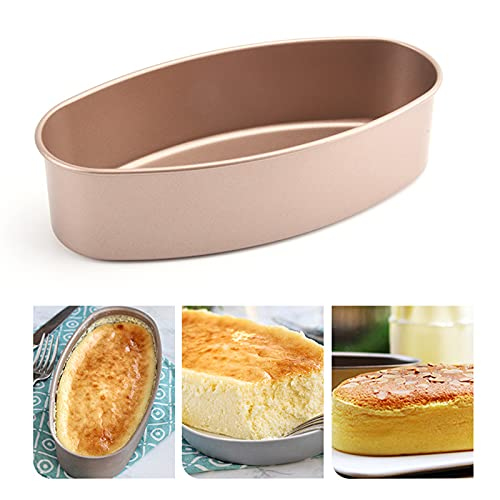 Cake Mould Oval Cheese Cake Mold Premium Quality Textured Baking Sheet for Baking with Stainless Steel Oven Safe Cooling Rack
