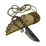 Toferner Beautiful Product - Cuchillo de regalo original - Celtic mini - BÉL - Cuchillo forjado a mano - Funda de piel auténtica hecha a mano - Hoja pulida y endurecida