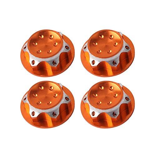 cvbf 4PCS Staubschutzmuttern rutschfeste Adapterrad- und Felgenmutter Kletterautomodellteile für 1/8 RC-Geländewagen Redcat LOSI Team/C (Farbe: Gold)