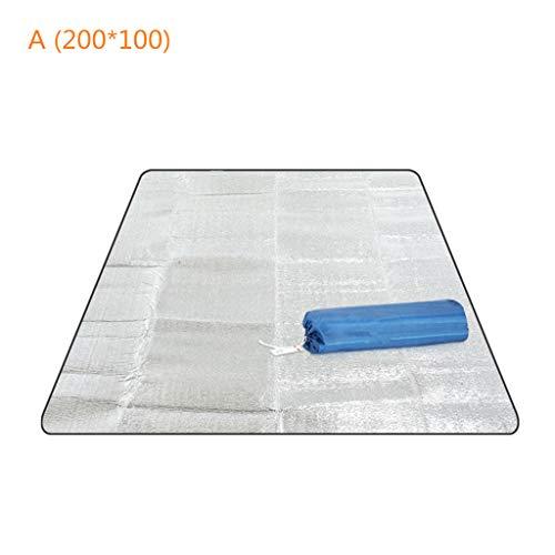 ZZALLL Colchoneta para Acampar Colchón para Tienda Impermeable Papel de Aluminio Plegable EVA Picnic Beach Pad - A #