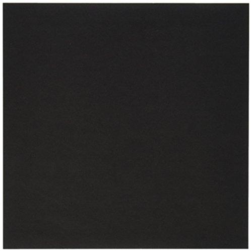 Aitoh OG-BLK Papel de Origami, 5.875 Pulgadas por 5.875 Pulgadas, Negro, 50 Hojas