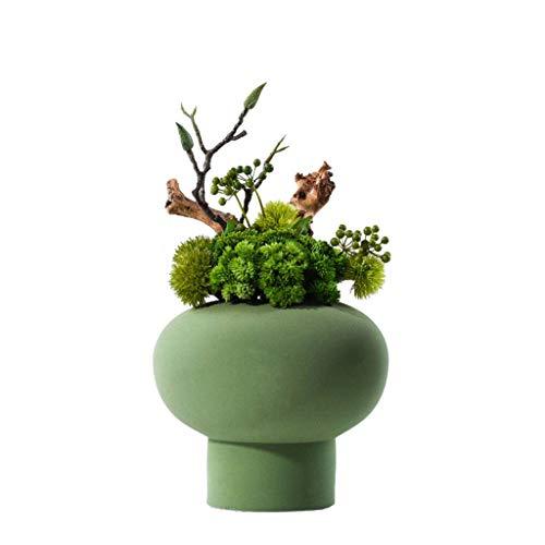 Plante artificielle Moderne chinois Creative Simulation Fleur, Villa Hôtel artificielle Accueil Porch Céramique pot plante verte Bonsai,...