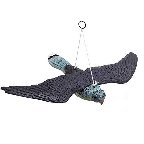 oxskk Simulation Owl Decoy,Garden Owl Statue Decorations,Plastic Fake Owl Ornament For Patio Yard Garden Protector-A 52x34x9cm(20x13x4inch)