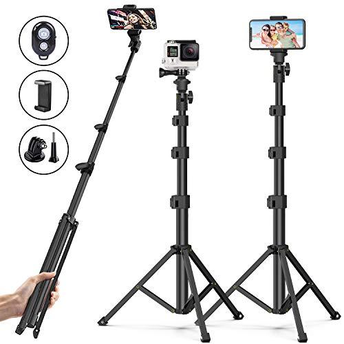 Soft Digits Selfie Stick Stativ,Bluetooth Handy Stativ mit ausziehbarem Fernbedienung Kamera Stativ für iPhone 11/iPhone SE/Galaxy Ringlicht Kamera mit 1/4''Schraubenloch