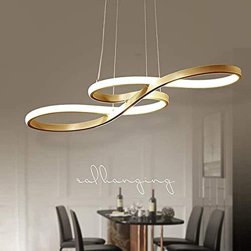 Modern Simplicity 60 W LED Kronleuchter, Modernes Acryldesign, Innenbeleuchtung, Höhenverstellbar, Esstischleuchte, Wohnzimmerleuchter, Metallaluminium, Neutralweiß, Weiß