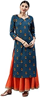 Vaamsi Women's Polyester Crepe A-line Kurta