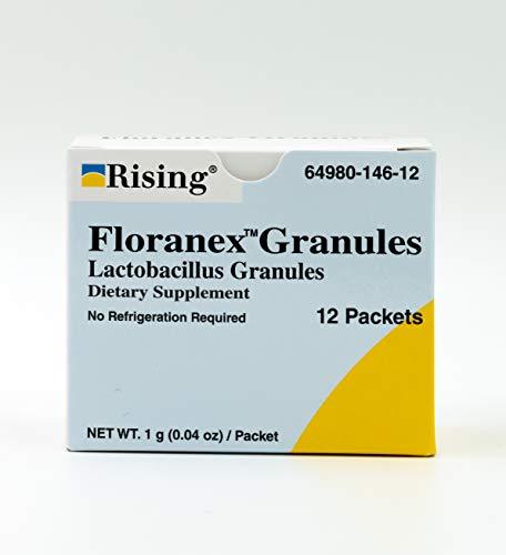 Rising Pharma - Floranex Granules - Lactobacillus Granules Probiotic Dietary Supplements - 12 Packets