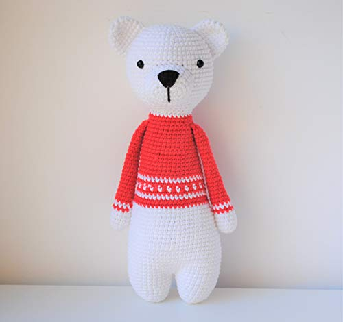 Ours polaire peluche 30cm crocheté main Amigurumi Marshmallow Toys