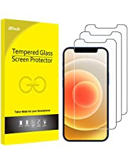 JETech Screen Protector for iPhone 12 / 12 Pro 6.1-Inch, Tempered Glass Film, 3-Pack