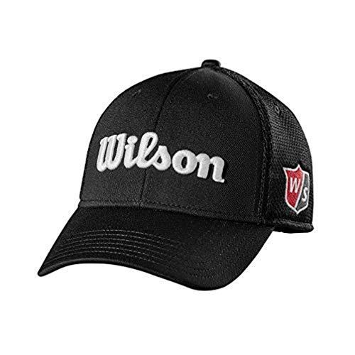 Wilson Staff Golfkappe, Tour Mesh Cap, Für Herren, Schwarz, Gebogener Schirm, Größenverstellbar, WGH6100BL