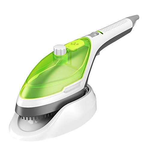 SYLOZ 5-in-1 Portable Hand-held Steam Iron, Laundry Steamer, Household and Travel Clothing Steamer, Fast Heating Smooth Surface, Ideal for Vertical and Horizontal Steamer (Color : Green)