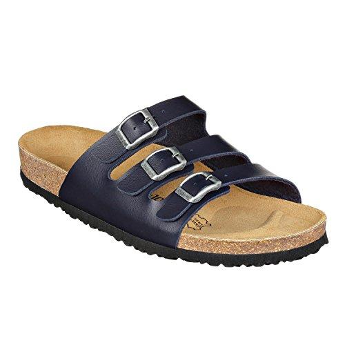 JOE N JOYCE Sandalias París | Cómodas sandalias de corcho con suela cómoda | Ajuste estrecho y normal | Tallas 36 – 46 | Colores básicos, color Azul, talla 42 EU Weit