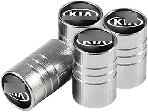 4 Piezas Coche Neumáticos Tapas Válvulas Tapones de válvula con Logo para Ki-A Sportage Ceed Rio Picanto Sorento Seele Cerato Venga Forte