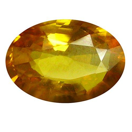 0,77 ct AAA forma ovalada (7 x 5 mm) naranja amarillo zafiro zafiro natural suelto Gemstone