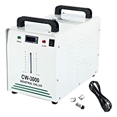 Specification Model: CW-3000AG Industrial Chiller ; Application: Cool a single 80W CO2 glass laser tube or below CO2 laser tube (emitting rate lower than 60%), and for 0. 8KW / 1. 5KW Spindle Cooling; Amount of cooling: 50W/℃; maximum flow: 10L/min; ...