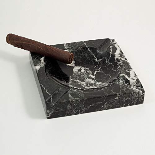 Bey Berk Black Marble Cigar Ashtray