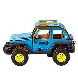 QINGCANG Diy Pintura al óleo Kit de punto de cruz 4 clases movible bricolaje 3D madera inercia energía coche modelo construcción kits montaje juguete regalo para niños adultos Hl