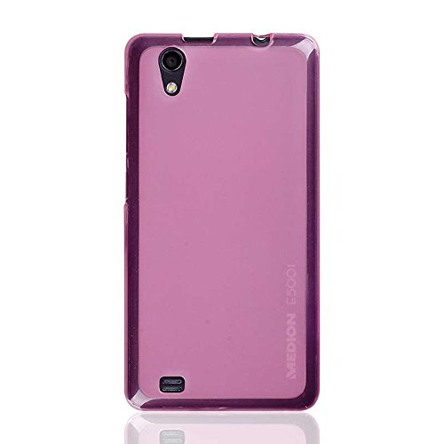 caseroxx TPU-Hülle für Medion Life E5001, Handy Hülle Tasche (TPU-Hülle in pink)