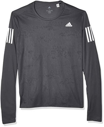 adidas Own The Run Chemise à Manches Longues pour Homme M Gris (Grey Six)