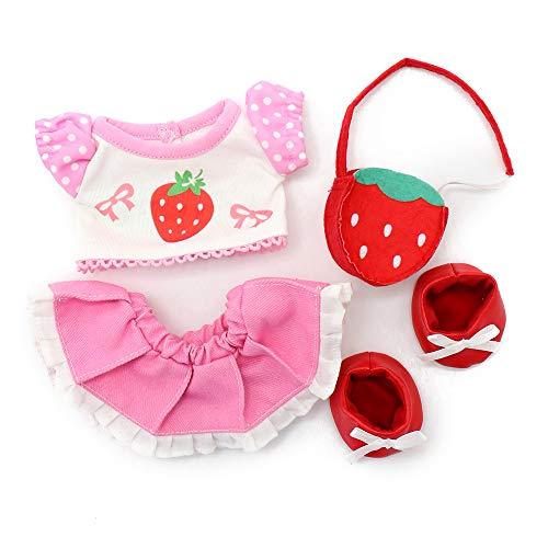 マザーガーデン Mother garden うさももドール プチ 着せ替え服 Sサイズ用 コーディネートセット お人形遊び きせかえ ドール 着せ替え服 (いちごコーデ)