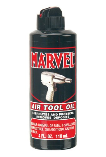 Marvel Air Tool Oil MM080R - 4 oz. Black Bottle
