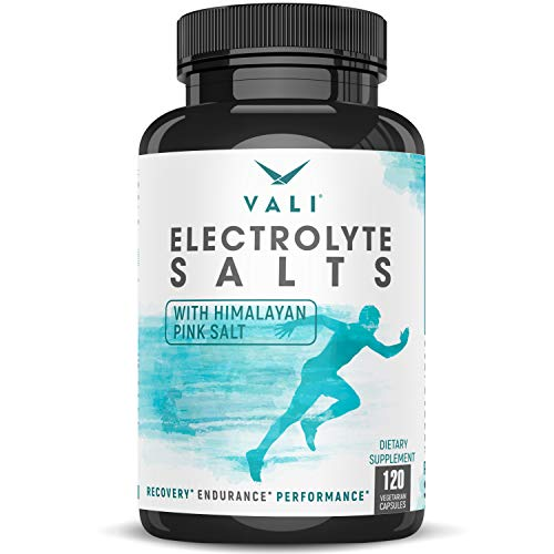Electrolyte Salts Rapid Oral Rehydration Replacement Pills, Hydration Minerals for Active Fluid Recovery Health - Sodium, Potassium, Magnesium, Calcium, Vitamin D3, Himalayan Pink Salt, 120 Capsules