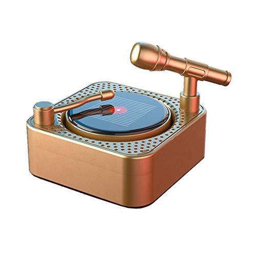 MYBOON Ambientador Clip de Perfume de fonógrafo Solar Giratorio Aromaterapia Fresca Fragran Clip de Perfume de fonógrafo Solar Dorado