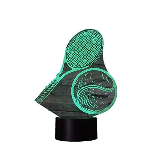 Sproud 3D Nachtlicht / 7 Farben/Dekoratives Licht/Schlafzimmer Acryl LED Kunst/Nachtlicht 3D Illusion/Baby Kinder Schlafzimmer Badmintonschläger