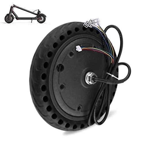 Accesorios para Scooter eléctrico 8.5 Pulgadas 36v 350w Motor silencioso DC sin escobillas Neumáticos Antideslizantes Resistentes al Desgaste de Potencia Fuerte Adecuado para Scooter eléctri