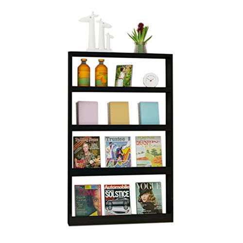JCNFA Planken Ladder Boekenplank Wandplank Display Stands Magazine Rack Slaapkamer Wandplank Multi-tier Opslag Hoogglans Verf, 2 Kleuren 26.77 * 4.72 * 43.50in Zwart