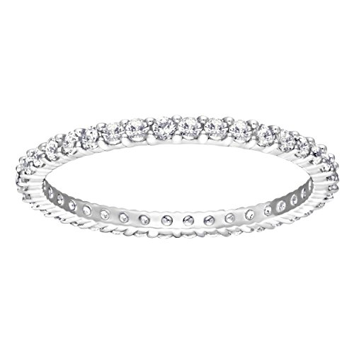Swarovski Vittore Ring, White, Rhodium plating - L