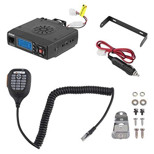 QiKun-Home BJ-218 Mini Dual Band Car Mobile Radio FM Transceptor 25W High Power Walkie Talkie Equipo de Radio Llamadas en Grupo Audio móvil Negro