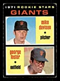 Rookie Stars/Mike Davison RC/George Foster Card 1971 Topps #276. rookie card picture