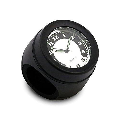 Reloj negro para manillares de 1' y 1-1/4' Moto Harley Davidson Honda Yamaha Kawasaki Suzuki Triumph