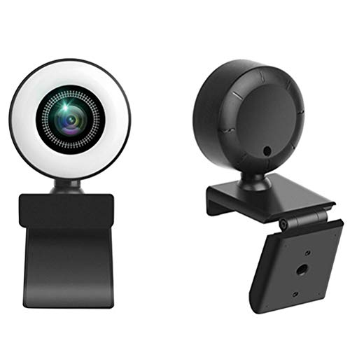 Eeauytr Webcam with Microphone,720P HD Webcam with Auto Light Correction for Desktop/Laptop, Streaming Computer USB Web Camera for Video Conferencing, Teaching, Streaming, and Gaming